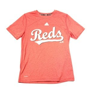 Adidas Cincinnati reds baseball t shirt white med